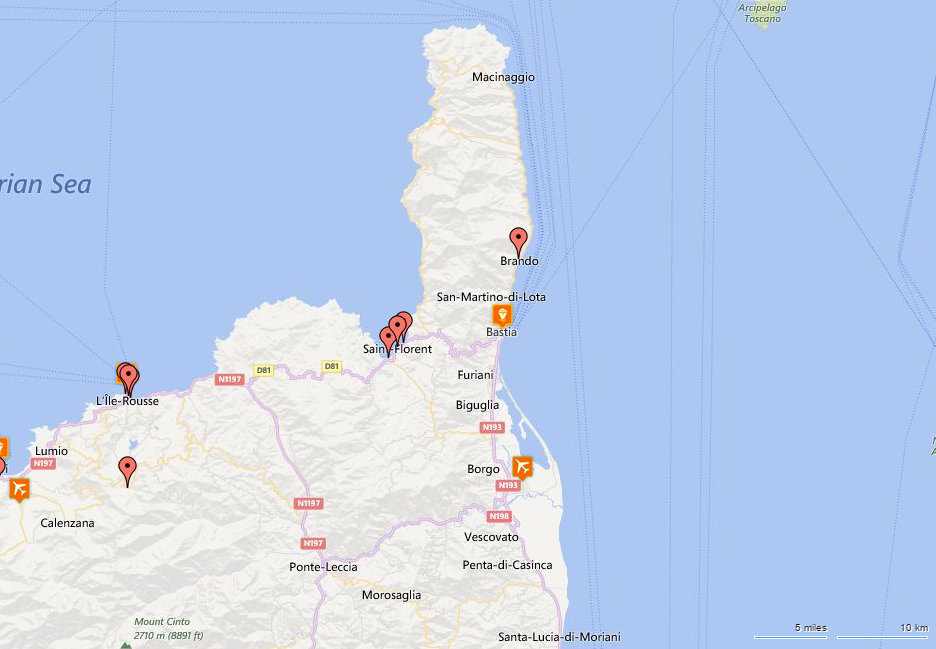 Hotels nearest to Bastia Airport