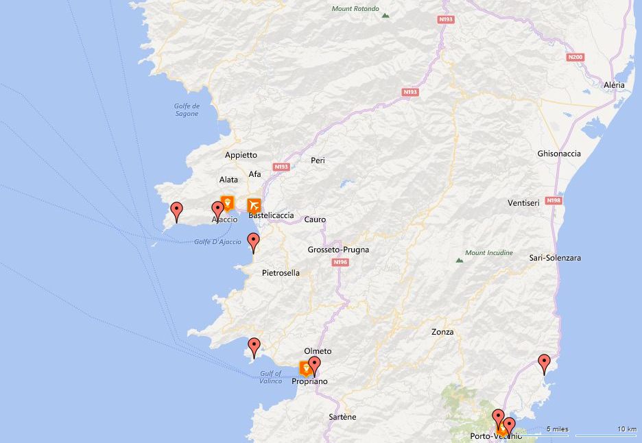 Hotels nearest to Ajaccio Airport